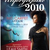 Celebrate the New Year at Unforgettable 2010: A Red Carpet Affair